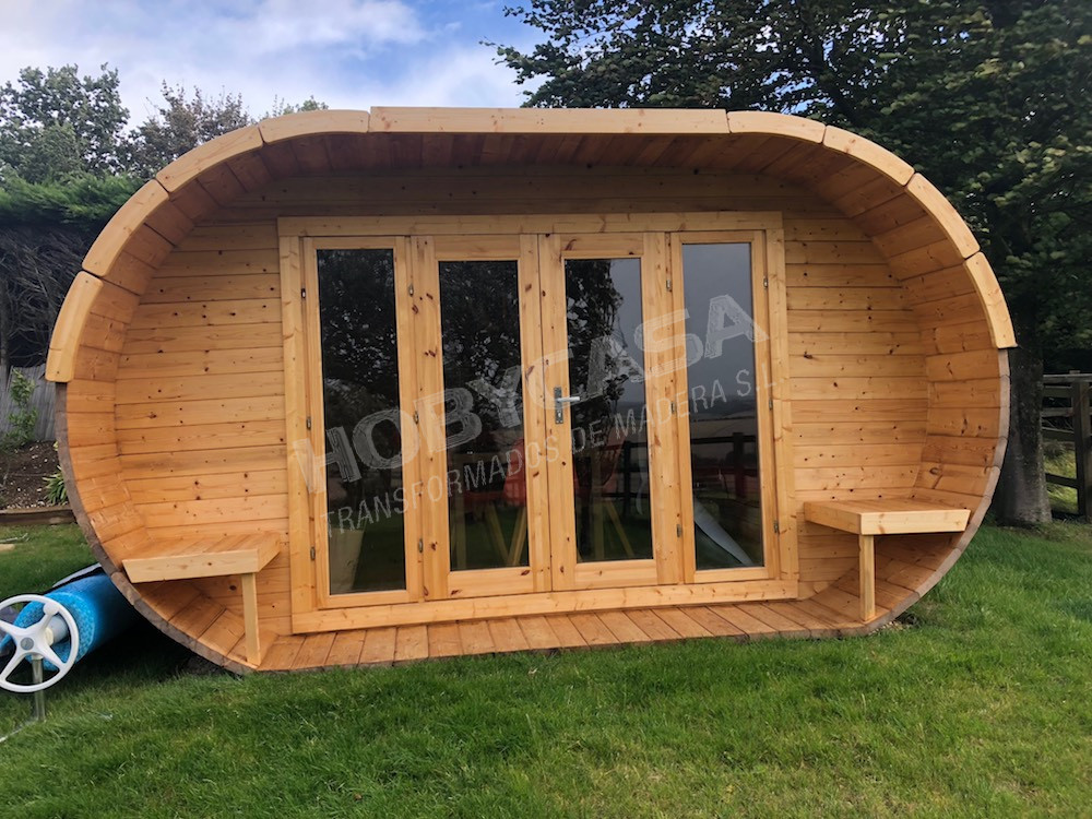 Casas de madera grosor paredes Oval