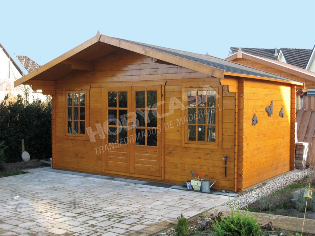 Casas de madera grosor paredes Viggo