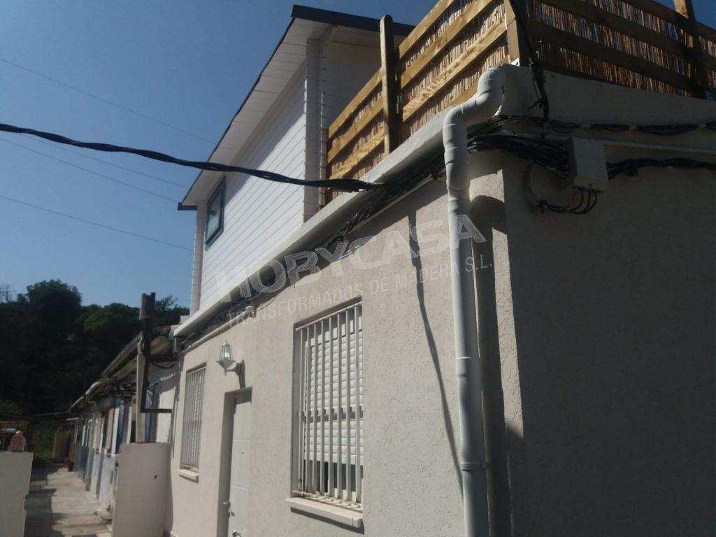 Ampliaciones de casas prefabricadas terraza