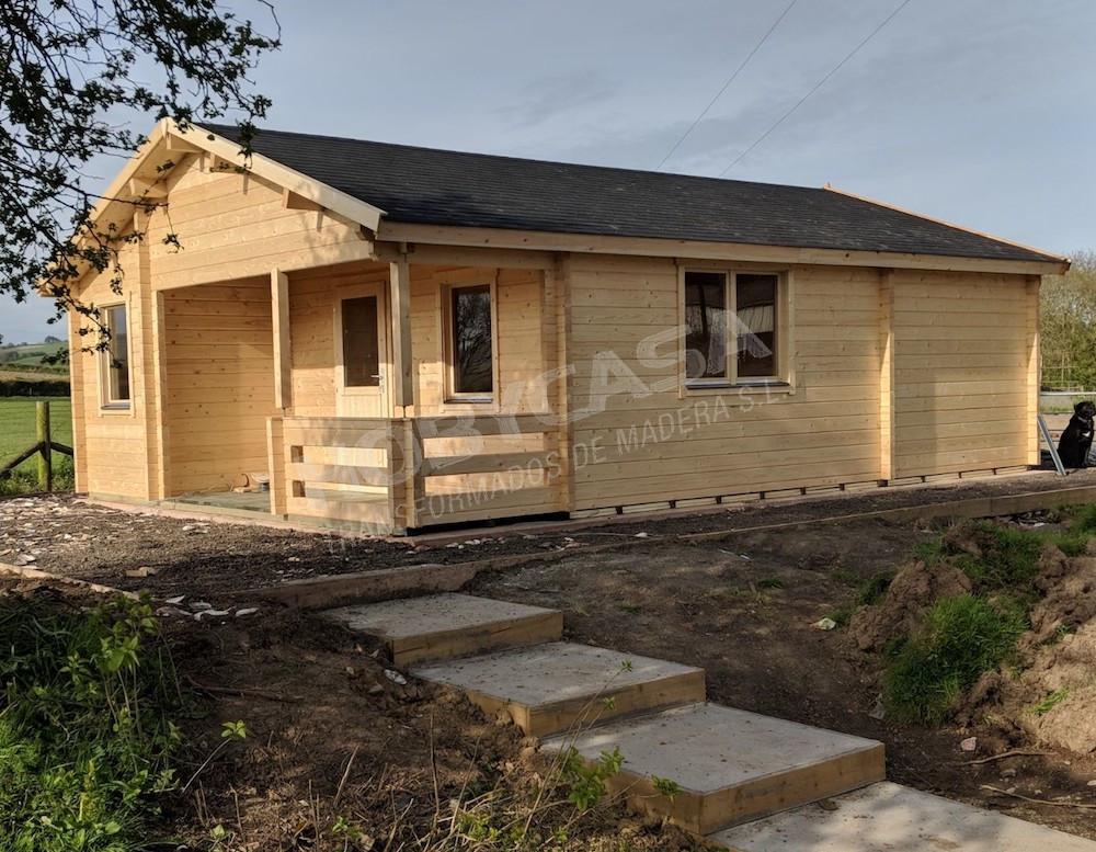 Casas prefabricadas de madera Kay lado