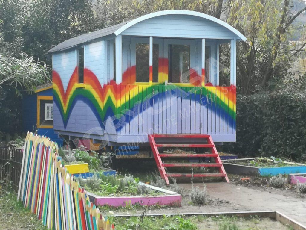 Casas de madera grosor paredes St. Moritz