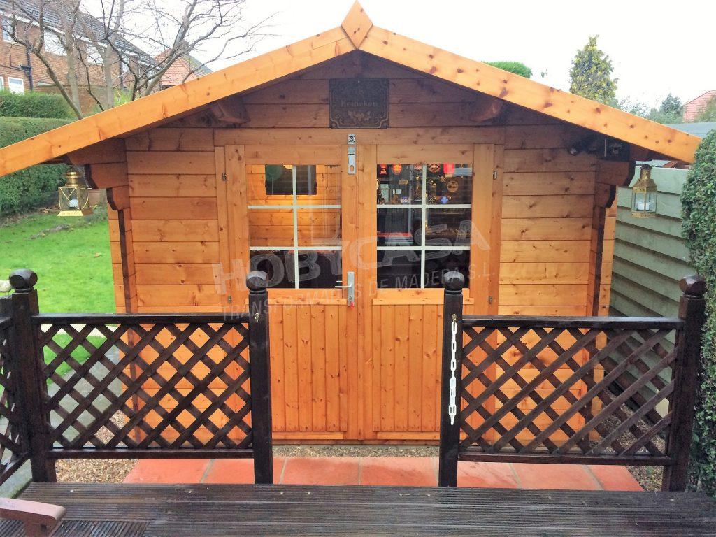 Caseta bar para jardín Peter entrada