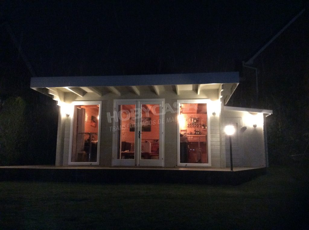 Caseta bar para jardín Yorick noche