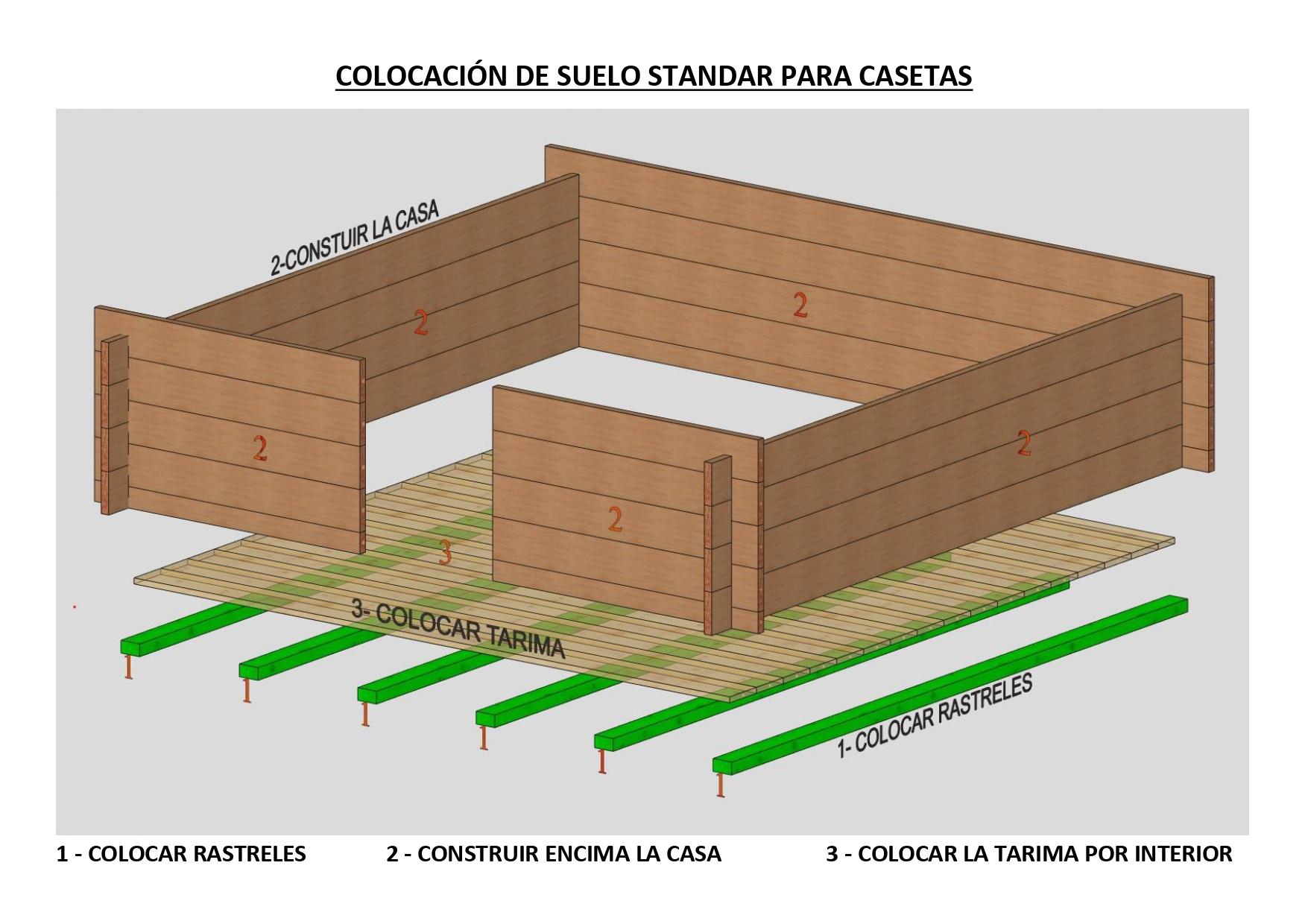 Como poner diferentes tipos de suelo en casas de madera