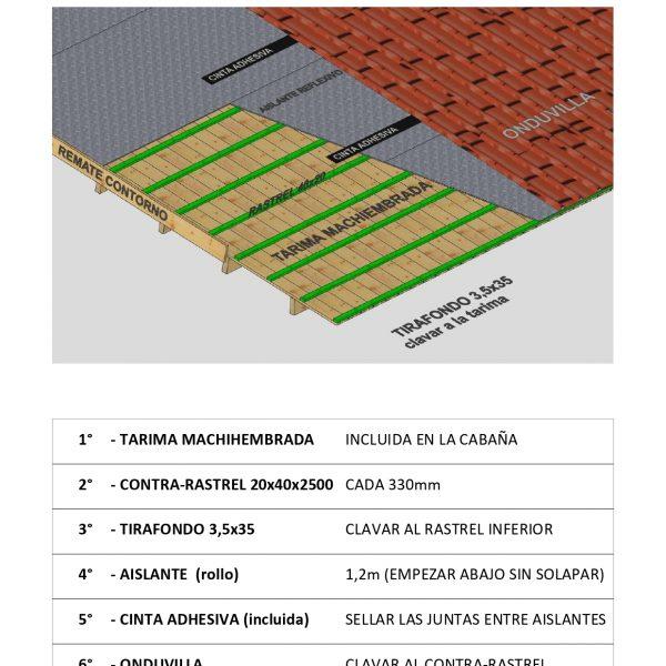 INSTRUCCIONES ONDUVILLA+AISLANTE GENERICO