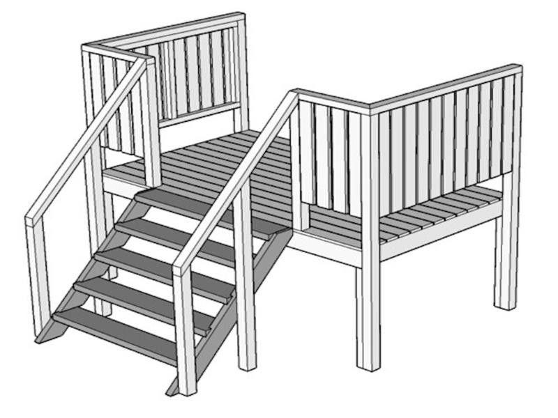 Escaleras Frontales De Luxe